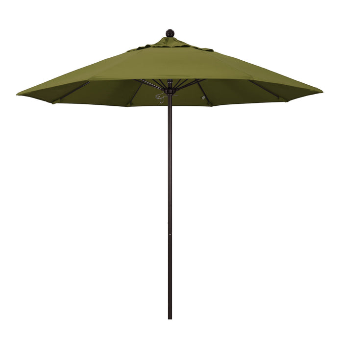 "California Umbrella California Umbrella Venture 9"" Bronze Market Umbrella in Palm Fabric Palm Olefin ALTO908117-SA21 8.48E+11"