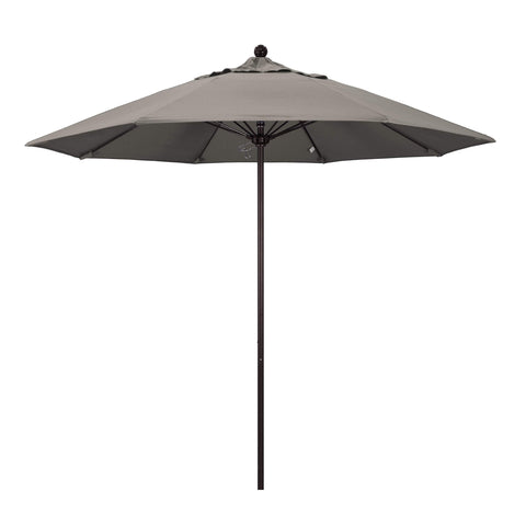 "California Umbrella California Umbrella Venture 9"" Bronze Market Umbrella in Taupe Fabric Taupe Olefin ALTO908117-SA61 8.48E+11"
