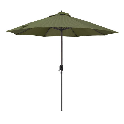 "California Umbrella California Umbrella Venture 9"" Bronze Market Umbrella in Terrace Fern Fabric Terrace Fern Olefin ATA908117-FD11 8.48E+11"