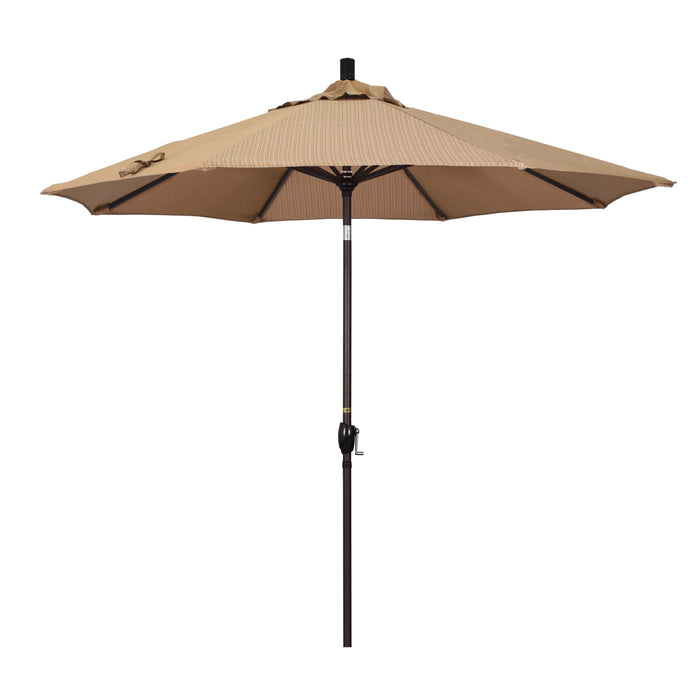 "California Umbrella California Umbrella Venture 9"" Bronze Market Umbrella in Terrace Sequoia Fabric Terrace Sequoia Olefin GSPT908117-FD10 8.48E+11"