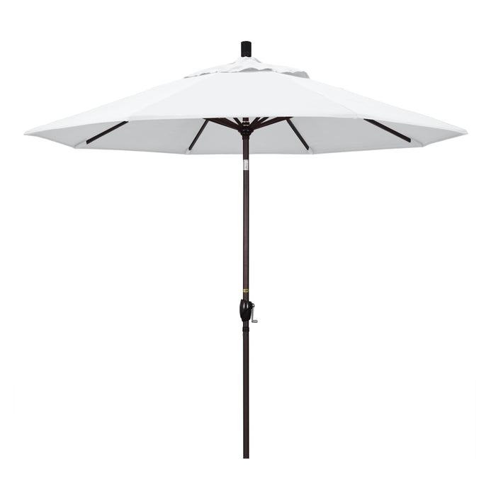 "California Umbrella California Umbrella Venture 9"" Bronze Market Umbrella in White Fabric White Olefin GSPT908117-F04 8.48E+11"
