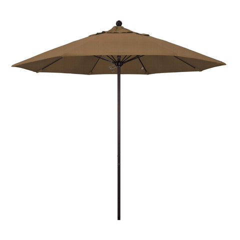 "California Umbrella California Umbrella Venture 9"" Bronze Market Umbrella in Woven Sesame Fabric Woven Sesame Olefin ALTO908117-F76 8.48E+11"