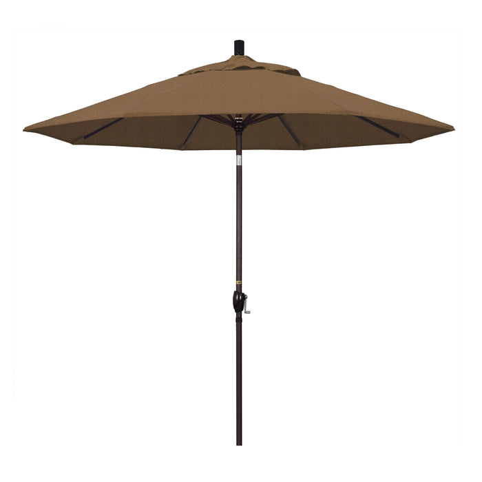 "California Umbrella California Umbrella Venture 9"" Bronze Market Umbrella in Woven Sesame Fabric Woven Sesame Olefin GSPT908117-F76 8.48E+11"