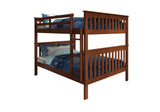 Donco Donco Mission Bunkbed Full/Full Espresso Bunk Bed 123-3-FFE 812614021315