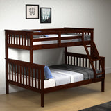 Donco Donco Twin/Full Mission Bunkbed Cappuccino Bunk Bed 122-3-TFCP 812614020448