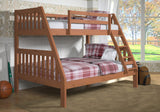 Donco Donco Twin/Full Mission Bunkbed Cinnamon Bunk Bed 1018-3TFCN 812614021209