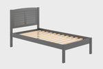 Donco Donco Twin Louver Bed Antique Grey Bed 212-TAG 812614025276