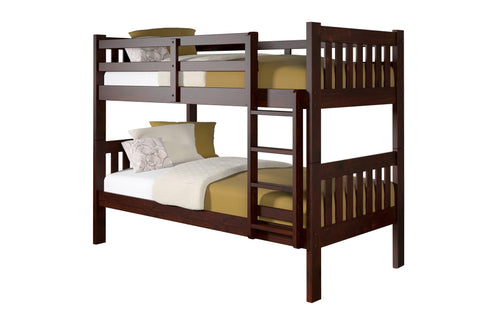 Donco Donco Twin/Twin Mission Bunkbed Cappuccino Bunk Bed 1010-3TTCP 812614020509