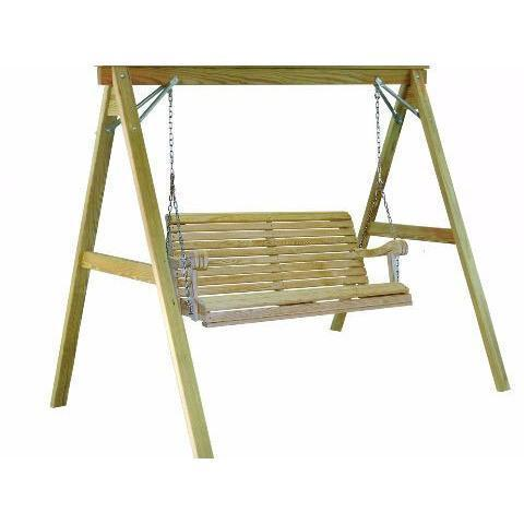 Hershy Way Hershy Way 4 ft Treated A-Frame Porch Swing Stand Stand Only Porch Swing Stand T4750