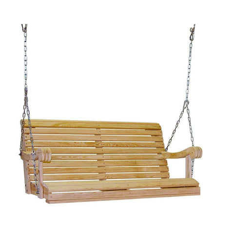 Hershy Way Hershy Way Grandpa Series 4ft. Cypress Porch Swing Porch Swing C3400