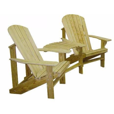 Hershy Way Hershy Way Treated Adirondack Chair Turkey Tail Connector (Chairs Not Included) Adirondack Chair Turkey Tail Connector T1470