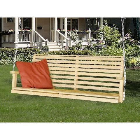 Hershy Way Hershy Way Treated Yellow Pine 5 ft. Classic Porch Swing Classic Porch Swing T1514