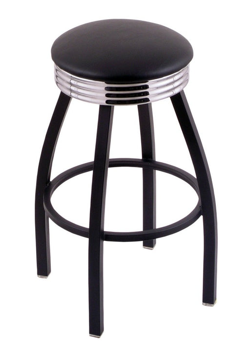 "Holland Bar Stool Co. Classic Series Swivel Stool C8B3C 25"" Counter Hight / Black Vinyl Bar Stools C8B3C25BlkVinyl 071235342043"