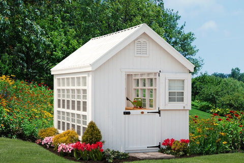 Little Cottage Co. Colonial Gable Greenhouse - Panelized Kit Little Cottage Co. 8X8 / No Floor Kit Specialty Buildings LCC-CGG-8x8-NFK