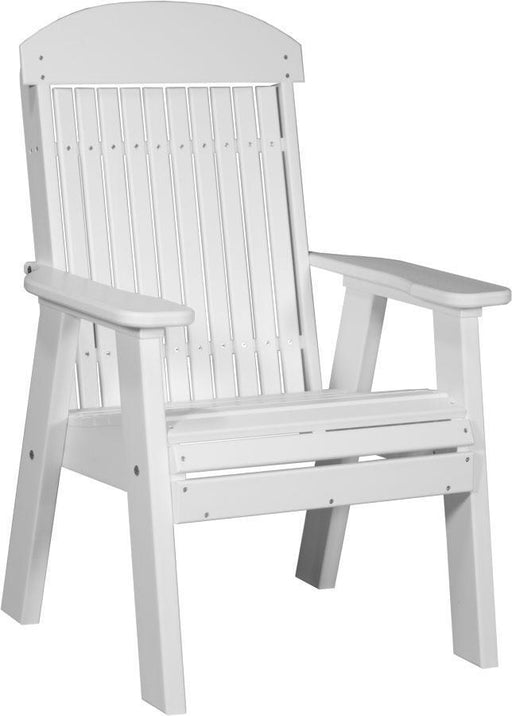 LuxCraft LuxCraft 2' Classic Highback Recycled Plastic Chair White Chair 2CPBW