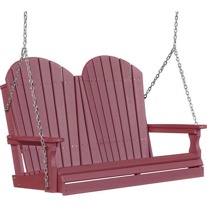 LuxCraft LuxCraft Adirondack 4ft. Recycled Plastic Porch Swing Cherrywood / Adirondack Porch Swing 4APSCW