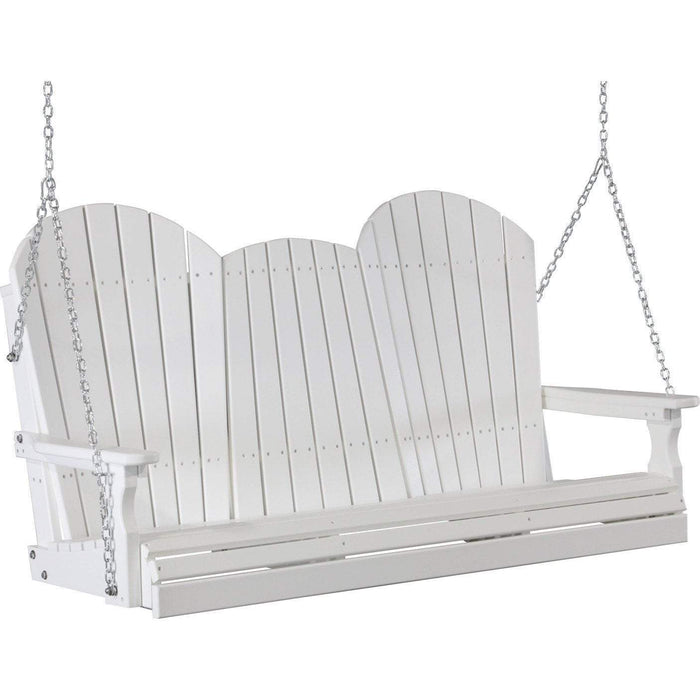 LuxCraft LuxCraft Adirondack 5ft. Recycled Plastic Porch Swing White / Adirondack Porch Swing 5APSW