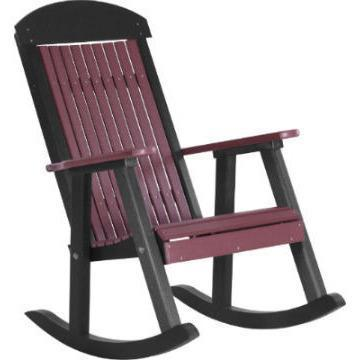 LuxCraft LuxCraft Classic Traditional Recycled Plastic Porch Rocking Chair (2 Chairs) Rocking Chair