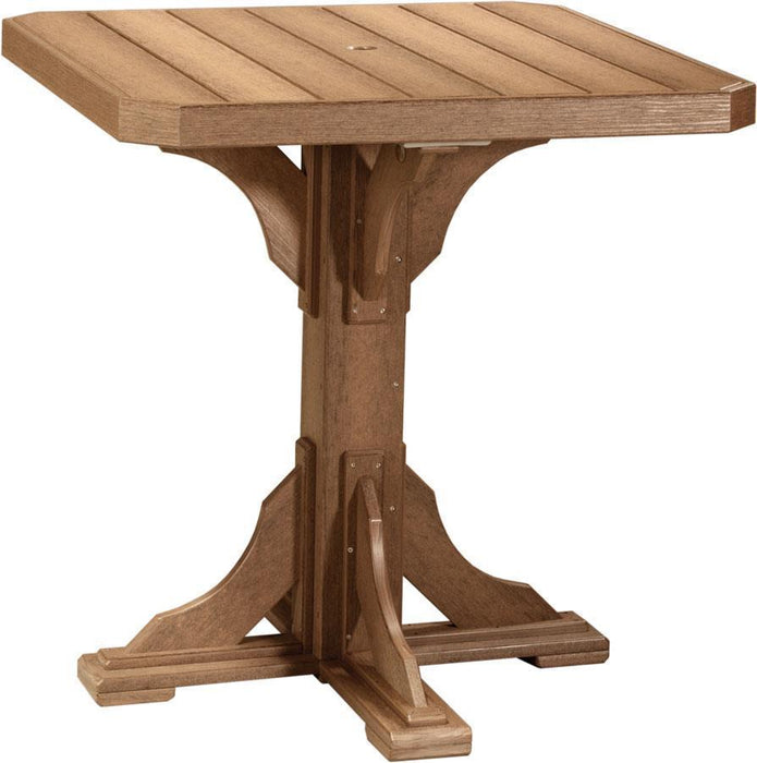 "LuxCraft LuxCraft Recycled Plastic 41"" Square Table Antique Mahogany / Bar Tables P41STBAM"