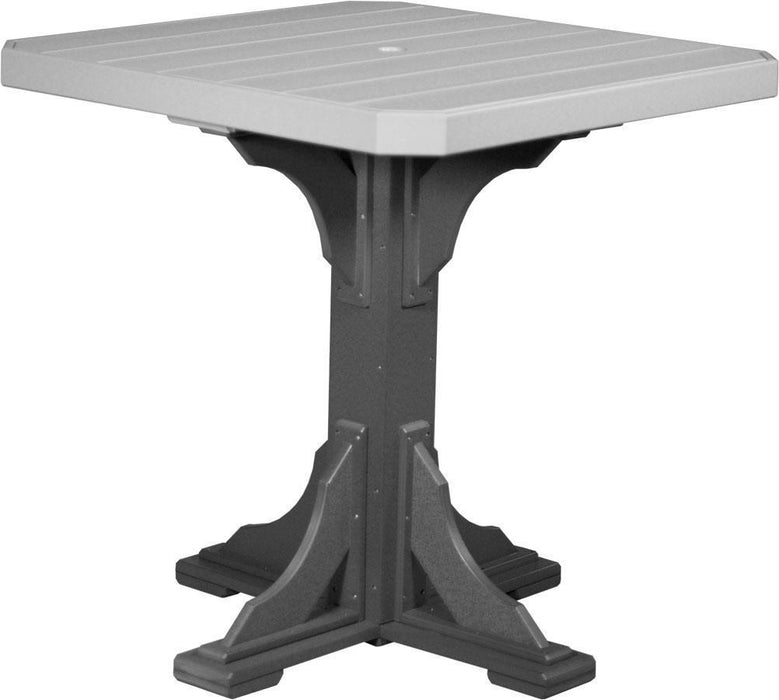 "LuxCraft LuxCraft Recycled Plastic 41"" Square Table Dove Gray On Slate / Bar Tables P41STBDGS"