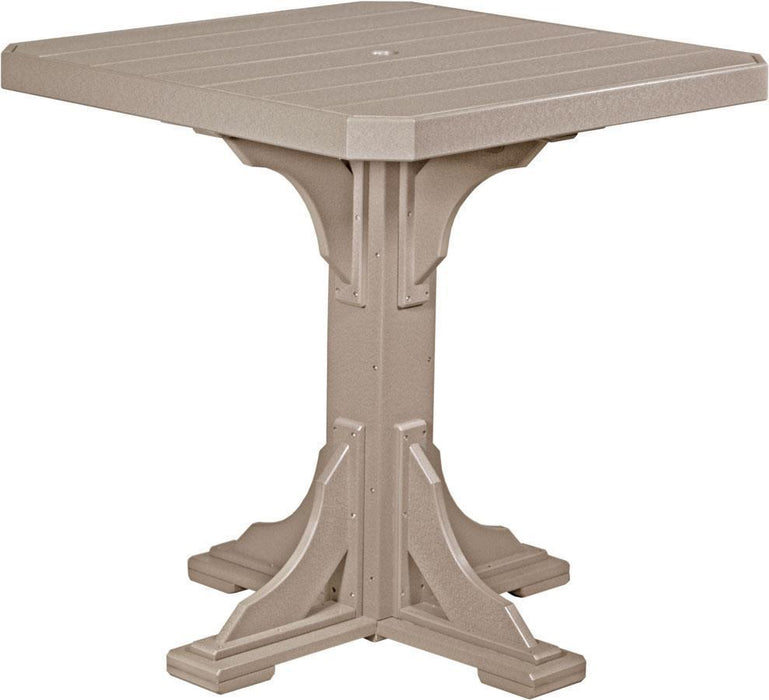 "LuxCraft LuxCraft Recycled Plastic 41"" Square Table Weatherwood / Bar Tables P41STBWW"