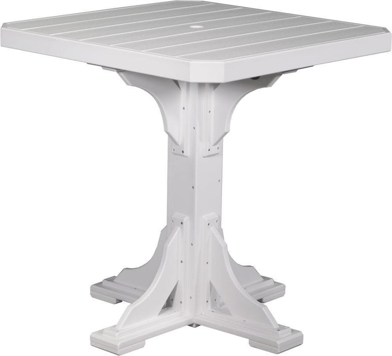 "LuxCraft LuxCraft Recycled Plastic 41"" Square Table White / Bar Tables P41STBW"