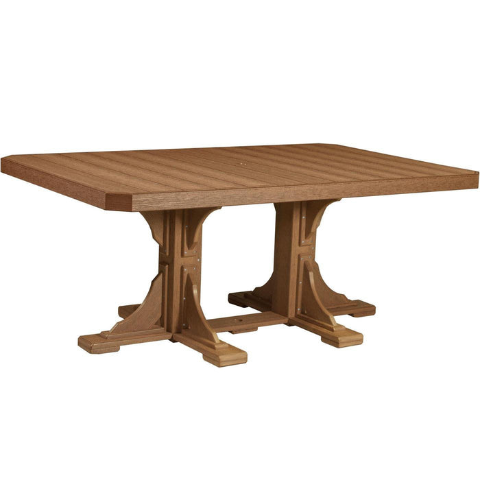 LuxCraft LuxCraft Recycled Plastic 4x6 Rectangular Table Antique Mahogany / Bar Tables P46RTBAM