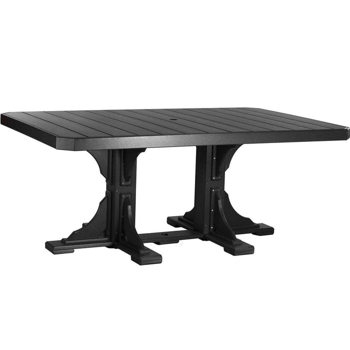 LuxCraft LuxCraft Recycled Plastic 4x6 Rectangular Table Black / Bar Tables P46RTBBK