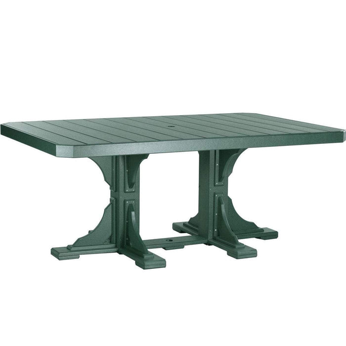 LuxCraft LuxCraft Recycled Plastic 4x6 Rectangular Table Green / Bar Tables P46RTBG