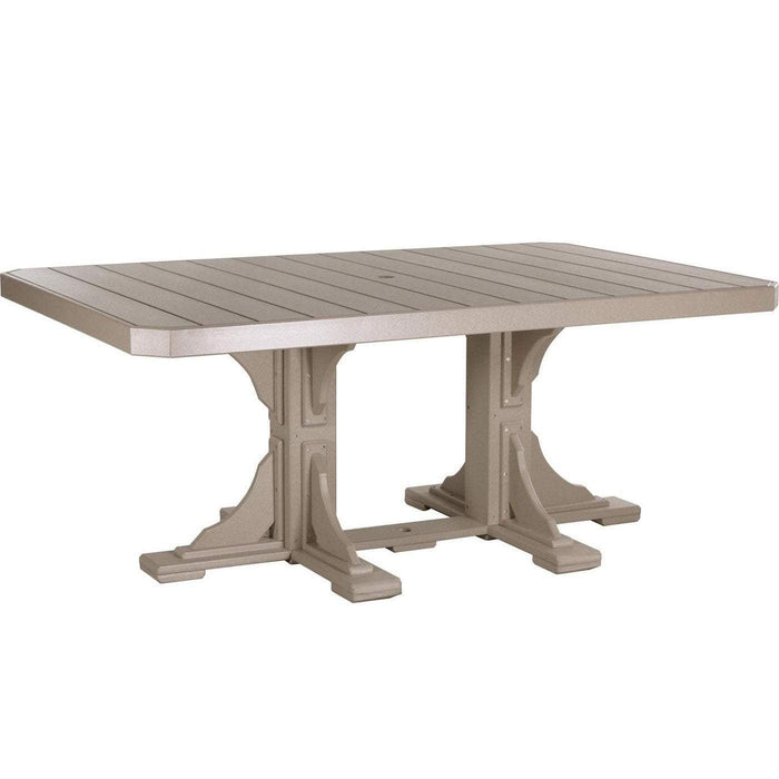 LuxCraft LuxCraft Recycled Plastic 4x6 Rectangular Table Weatherwood / Bar Tables P46RTBWW