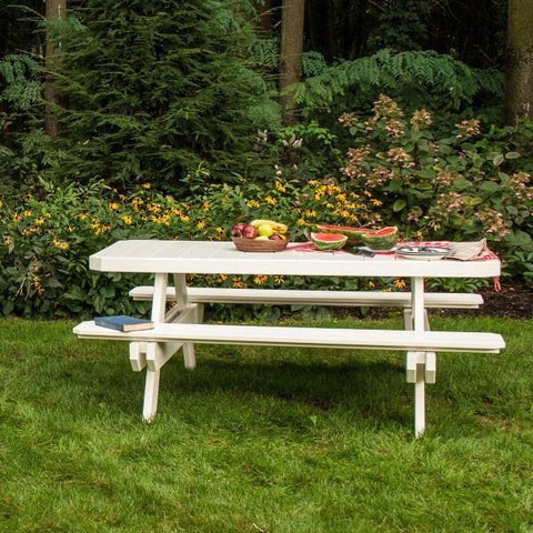 LuxCraft LuxCraft Recycled Plastic 6' Rectangular Picnic Table Tables