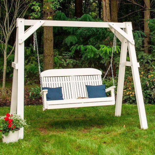 LuxCraft LuxCraft Recycled Plastic A-Frame Vinyl Swing Stand Swing Stand
