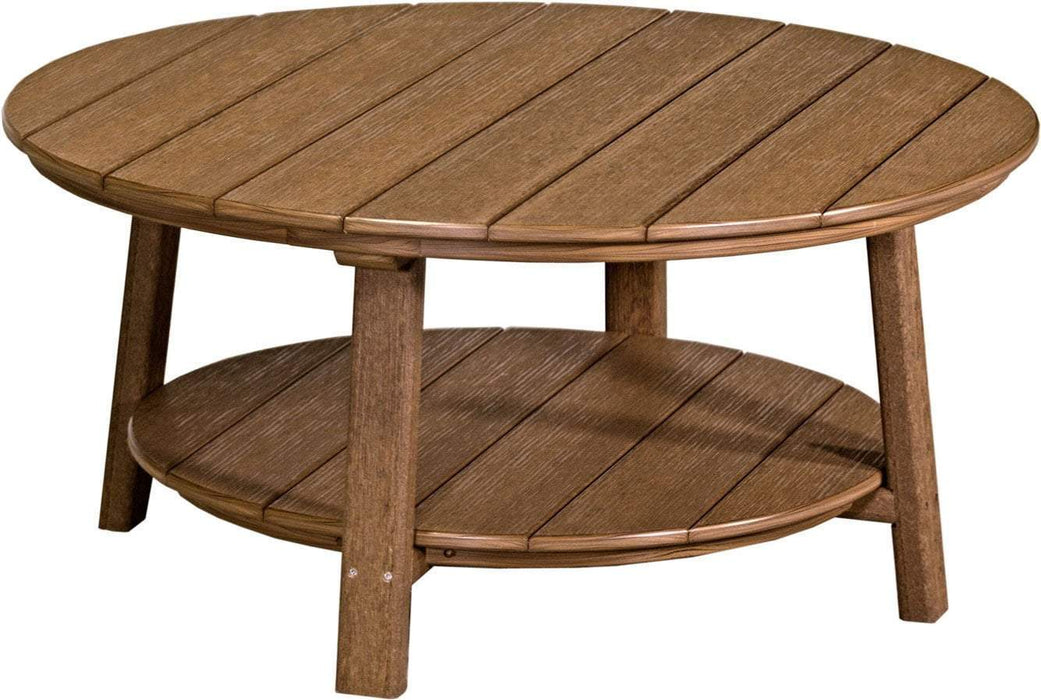 LuxCraft LuxCraft Recycled Plastic Deluxe Conversation Table Antique Mahogany Accessories PDCTAM