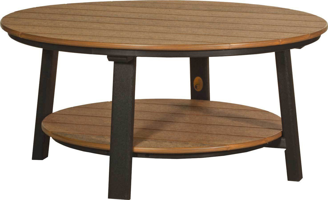 LuxCraft LuxCraft Recycled Plastic Deluxe Conversation Table Antique Mahogany on Black Accessories PDCTAMB