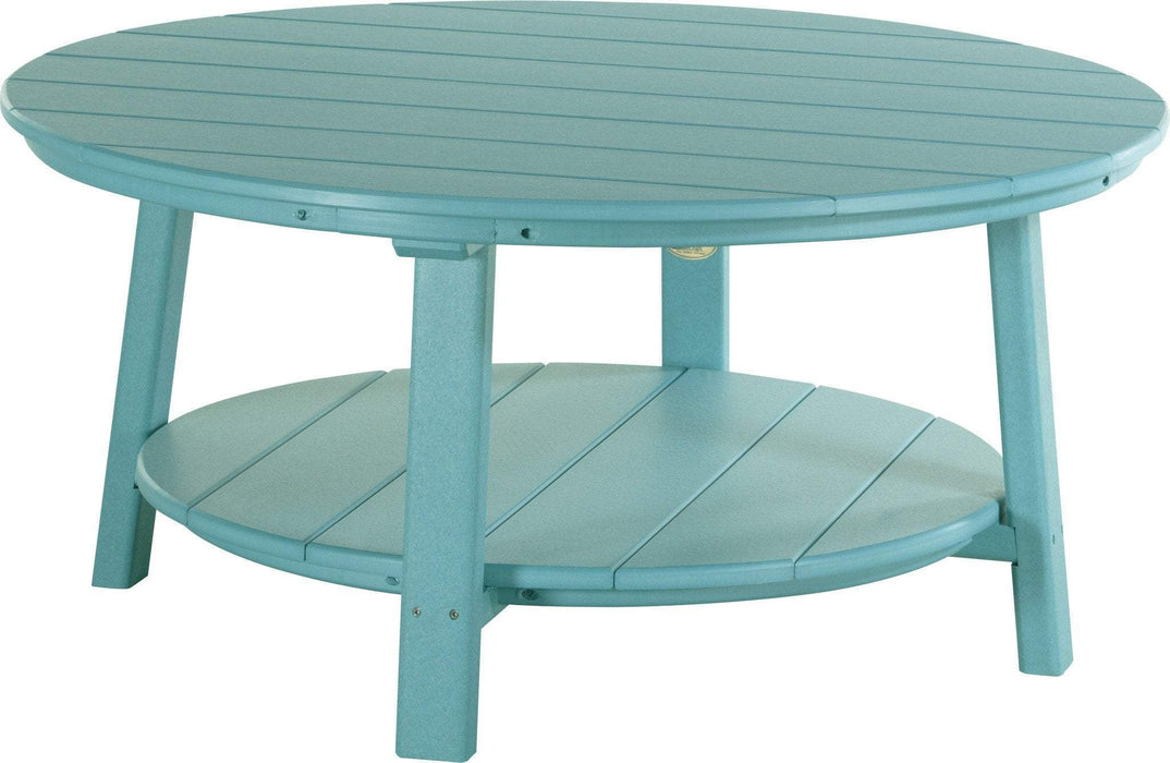 LuxCraft LuxCraft Recycled Plastic Deluxe Conversation Table Aruba Blue Accessories PDCTAB