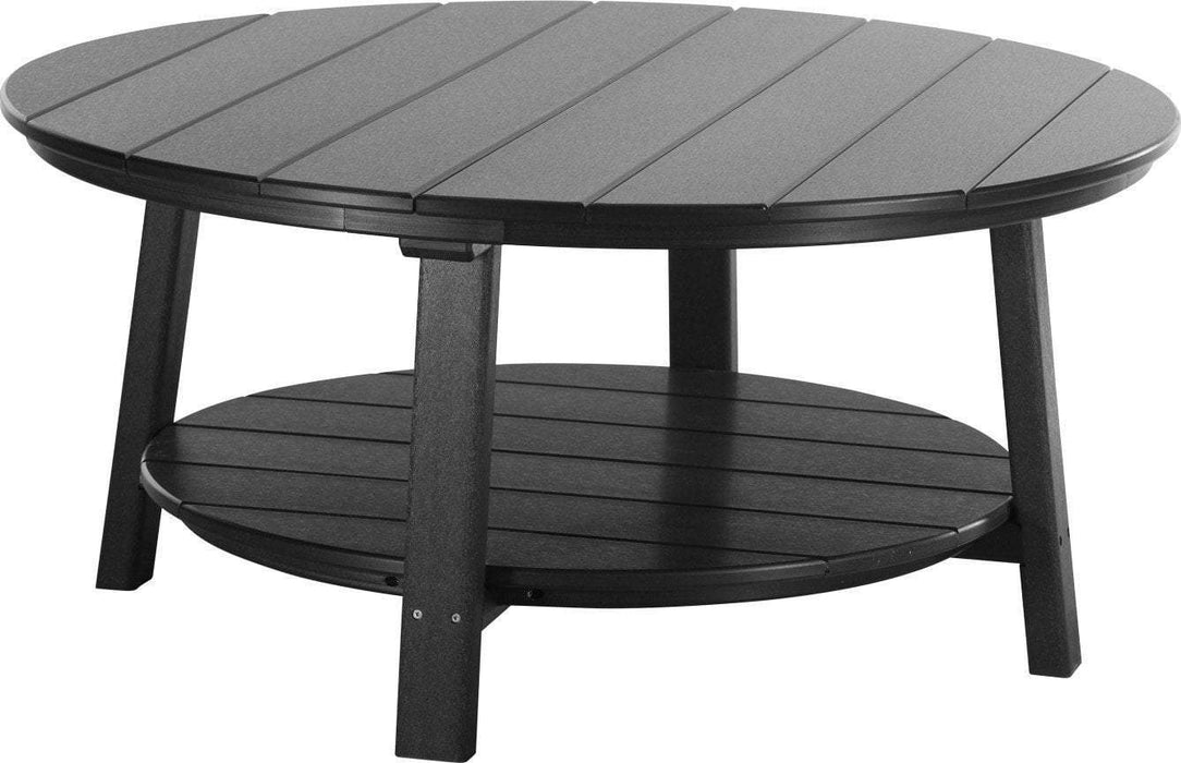 LuxCraft LuxCraft Recycled Plastic Deluxe Conversation Table Black Accessories PDCTBK