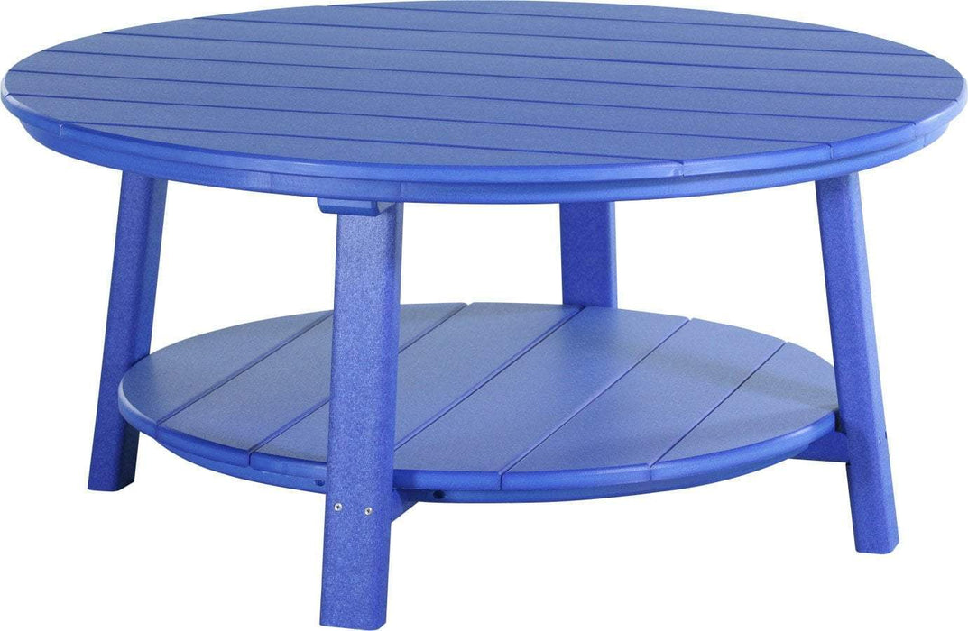 LuxCraft LuxCraft Recycled Plastic Deluxe Conversation Table Blue Accessories PDCTB