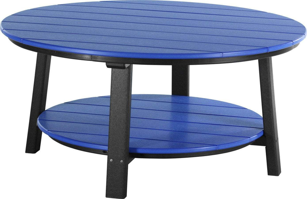 LuxCraft LuxCraft Recycled Plastic Deluxe Conversation Table Blue on Black Accessories PDCTBB