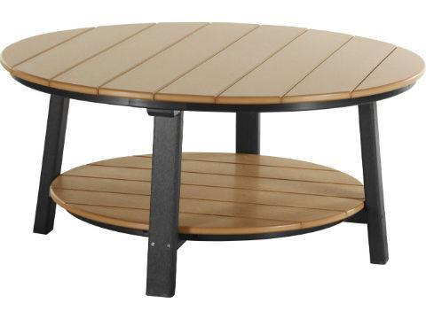 LuxCraft LuxCraft Recycled Plastic Deluxe Conversation Table Cedar on Black Accessories PDCTCB
