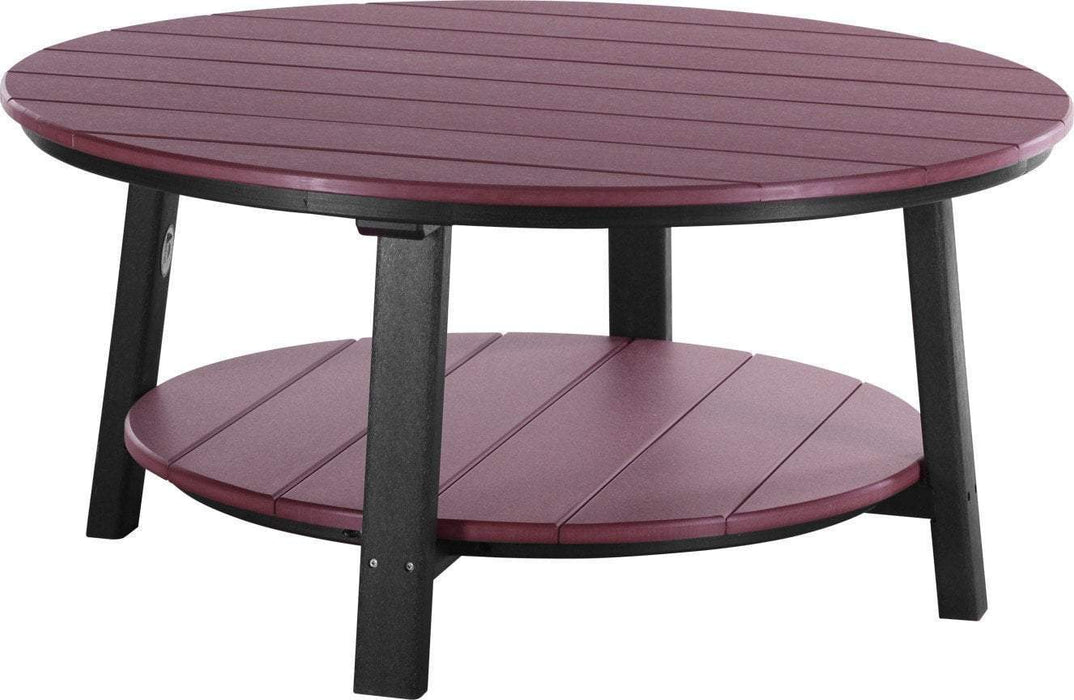 LuxCraft LuxCraft Recycled Plastic Deluxe Conversation Table Cherrywood on Black Accessories PDCTCWB