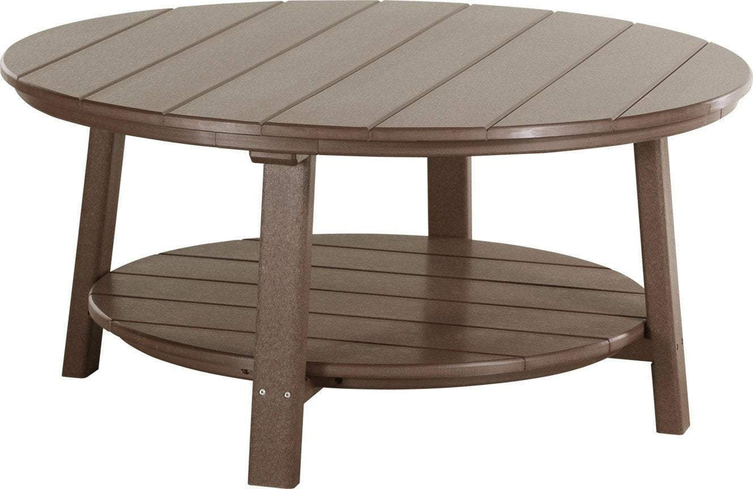 LuxCraft LuxCraft Recycled Plastic Deluxe Conversation Table Chestnut Brown Accessories PDCTCBR