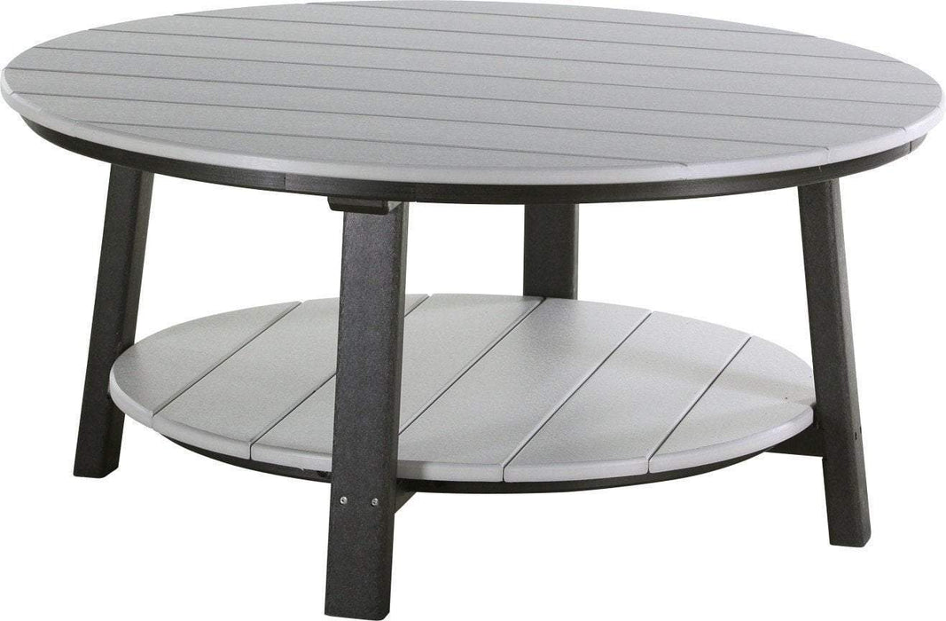 LuxCraft LuxCraft Recycled Plastic Deluxe Conversation Table Dove Gray on Black Accessories PDCTDGB