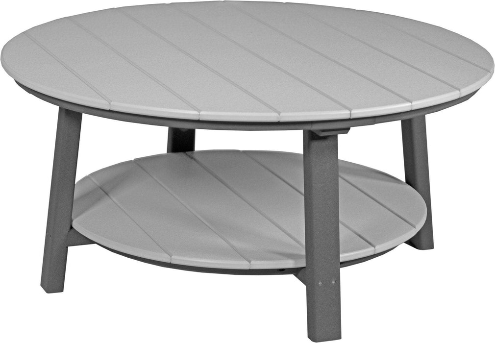 LuxCraft LuxCraft Recycled Plastic Deluxe Conversation Table Dove Gray on Slate Accessories PDCTDGS