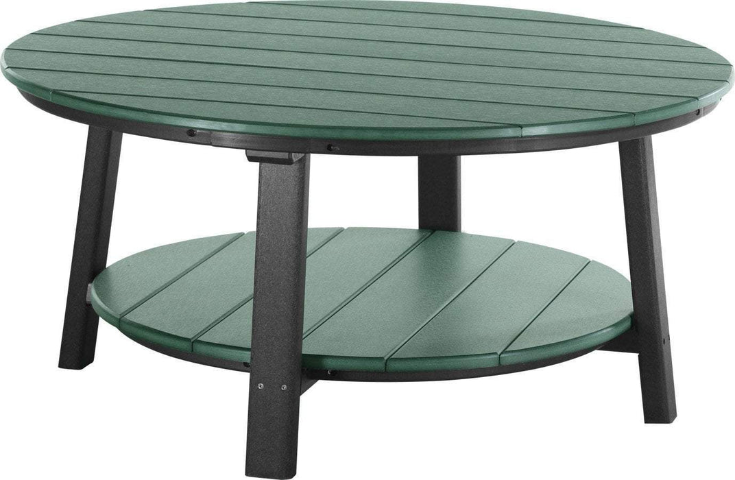 LuxCraft LuxCraft Recycled Plastic Deluxe Conversation Table Green on Black Accessories PDCTGB