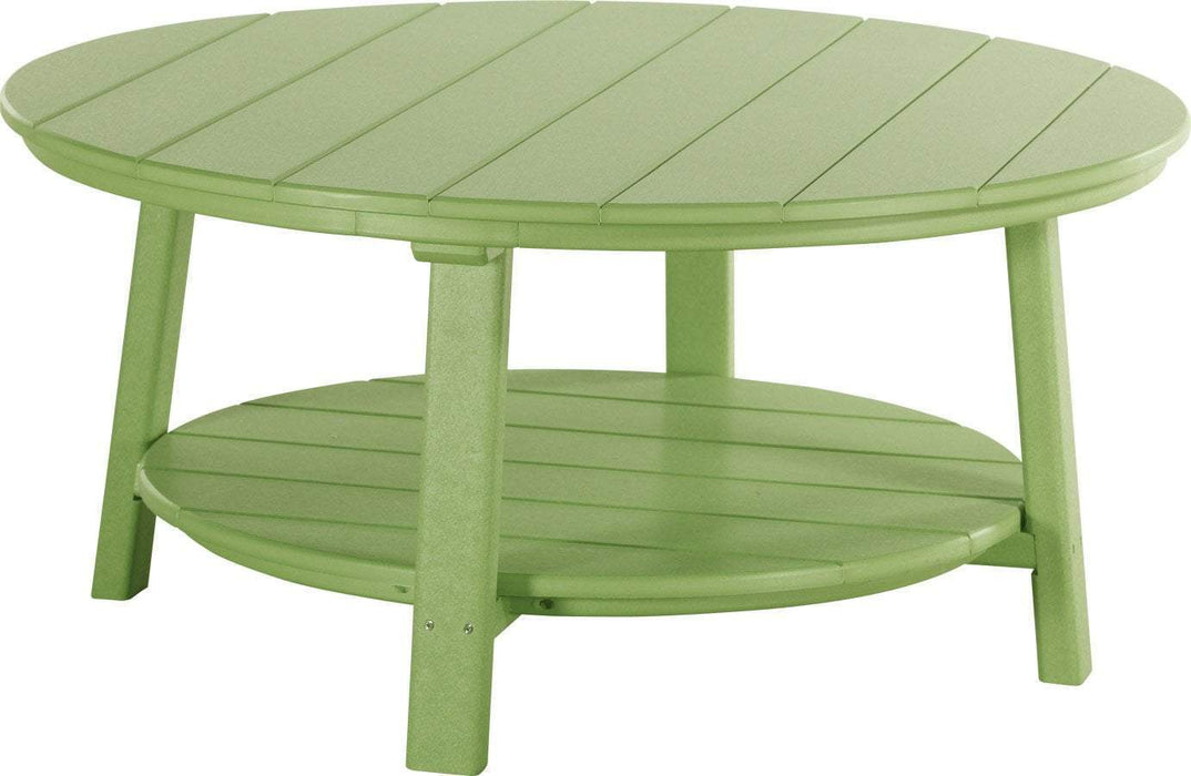 LuxCraft LuxCraft Recycled Plastic Deluxe Conversation Table Lime Green Accessories PDCTLG