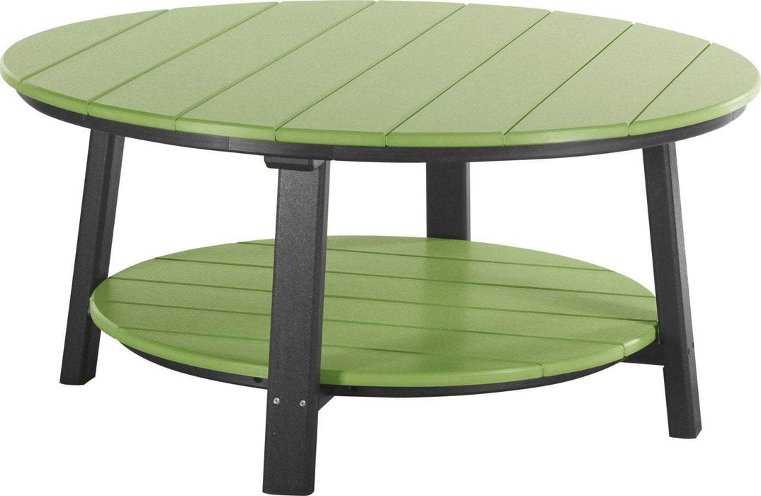 LuxCraft LuxCraft Recycled Plastic Deluxe Conversation Table Lime Green on Black Accessories PDCTLGB