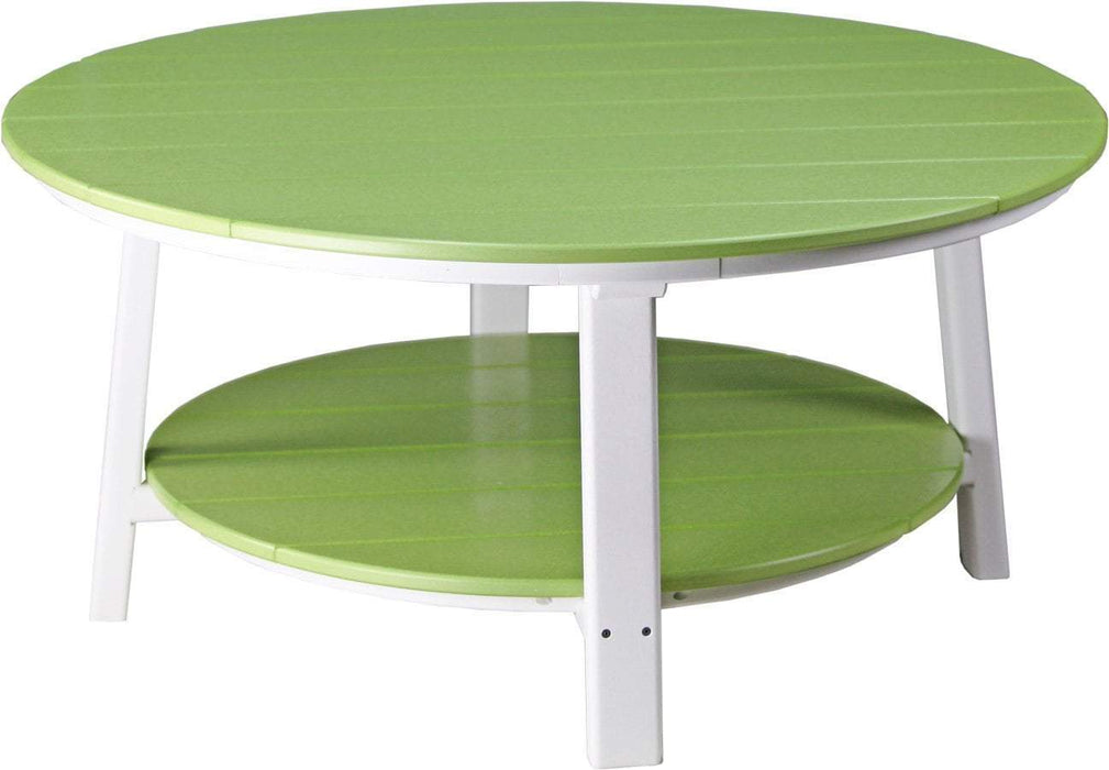 LuxCraft LuxCraft Recycled Plastic Deluxe Conversation Table Lime Green on White Accessories PDCTLGW