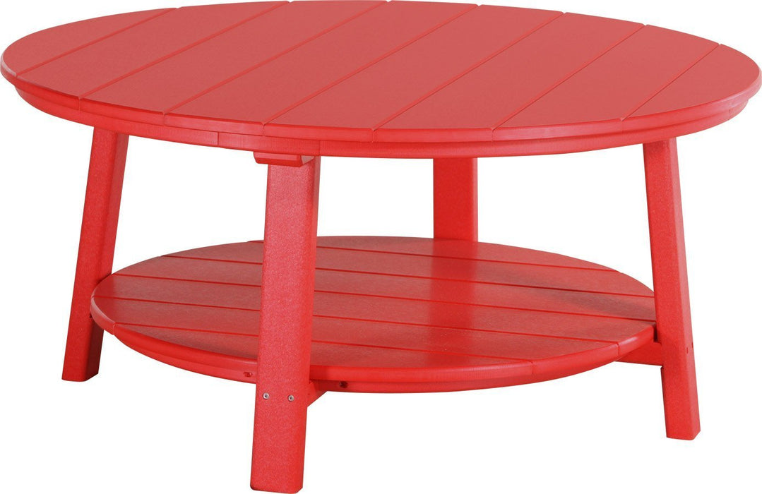 LuxCraft LuxCraft Recycled Plastic Deluxe Conversation Table Red Accessories PDCTR
