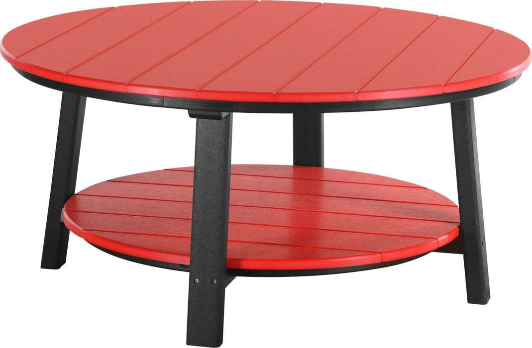 LuxCraft LuxCraft Recycled Plastic Deluxe Conversation Table Red on Black Accessories PDCTRB