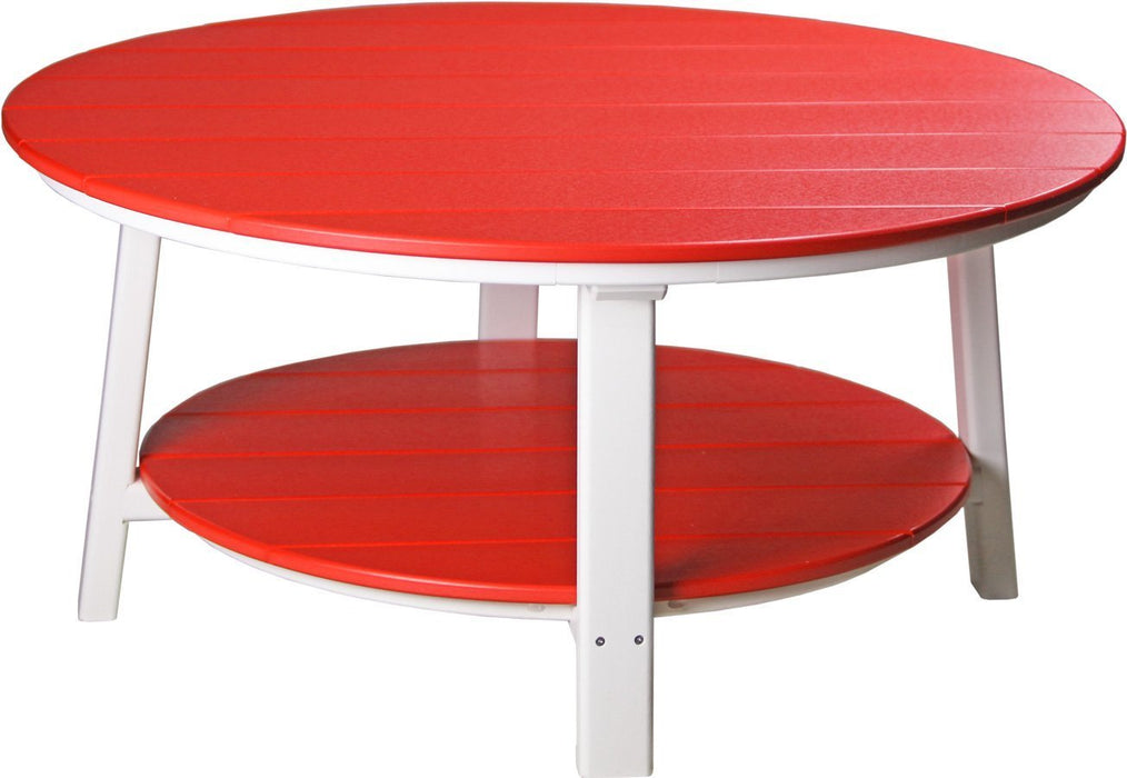 LuxCraft LuxCraft Recycled Plastic Deluxe Conversation Table Red on White Accessories PDCTRW